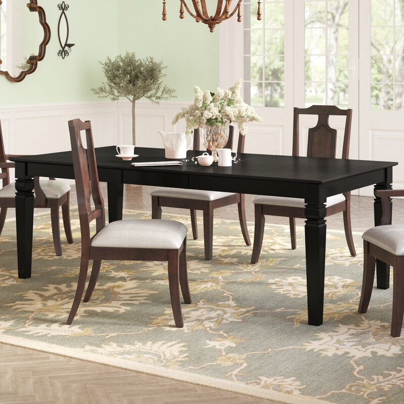 Darby Home Co Beesley Butterfly Leaf Solid Wood Dining Table Reviews Wayfair