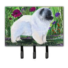 Keeshond Leash Holder and Key Hook by Caroline's Treasures