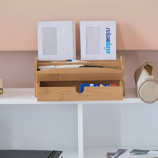 Gerald Bamboo Desk Organiser By Natur Pur