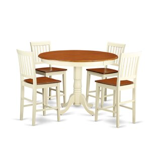 Trenton 5 Piece Counter Height Pub Table Set Wooden Importers