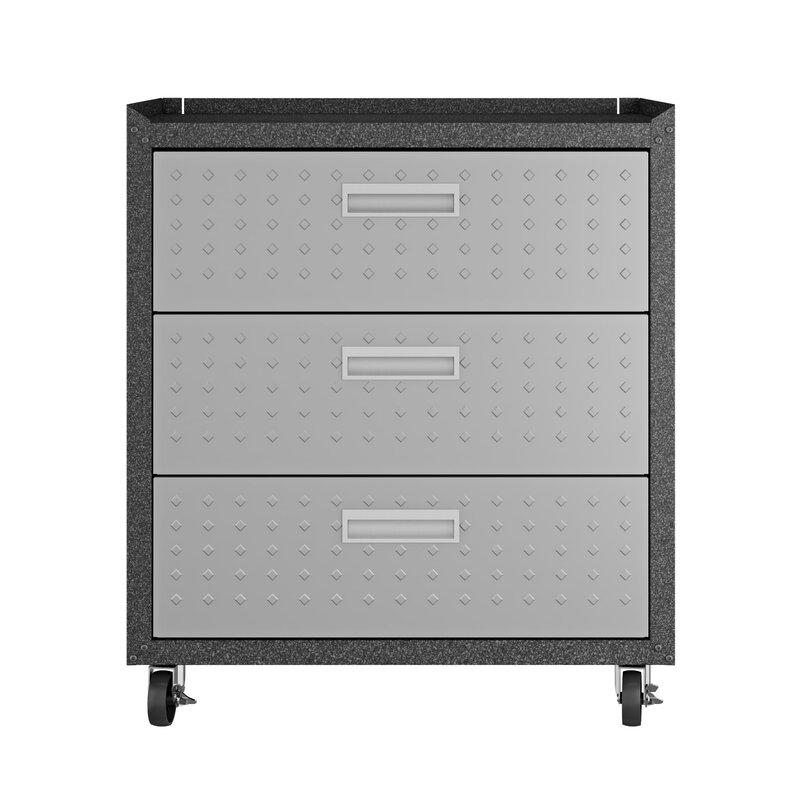 Fortress 32 H X 30 W 18 D Garage Mobile Storage Cabinet