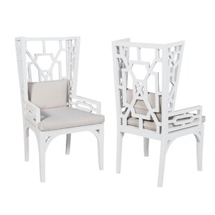 Rondalla Wing Wingback Arm Chair (Set of 2) by World Menagerie