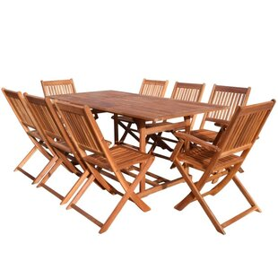 Review Clemons 8 Seater Dining Set