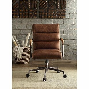 Red Barrel Studio Dandor Swivel Executive Genuine Leather Office Chair