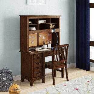 Virginia Kids Study Desk and Chair Set with Kids Hutch
