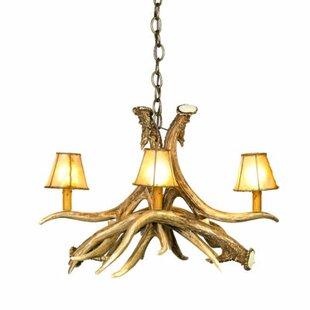 Arwen Mule/Deer 4-Light Shaded Chandelier by Millwood Pines