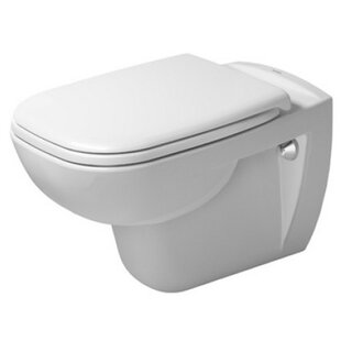 Duravit D-Code Wall Mounted Washdown Dual Flush Elongated Toilet Bowl