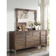 Andria 6 Drawer Standard Dresser with Mirror by ACME Furniture