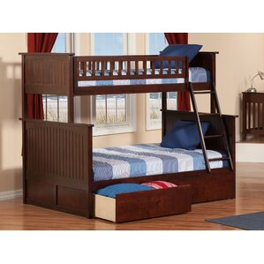 affordable abbie twin extra long over full bunk bed with drawers with full extra long bed frame