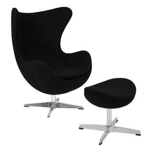 Andre Swivel Balloon Chair and Ottoman