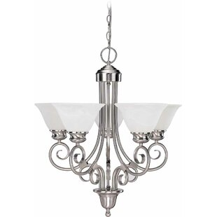 Volume Lighting Troy 5-Light Shaded Chandelier
