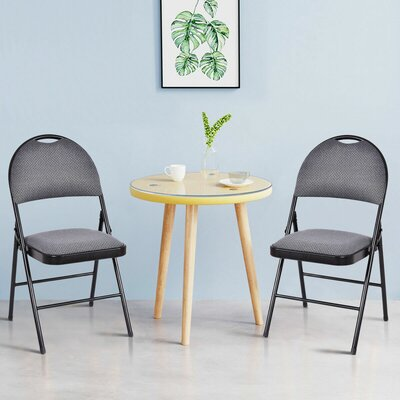 Fabric Padded Folding Chair Costway