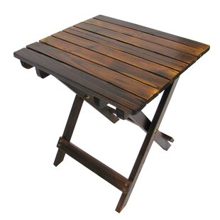 Char-Log Folding Wooden Side Table
