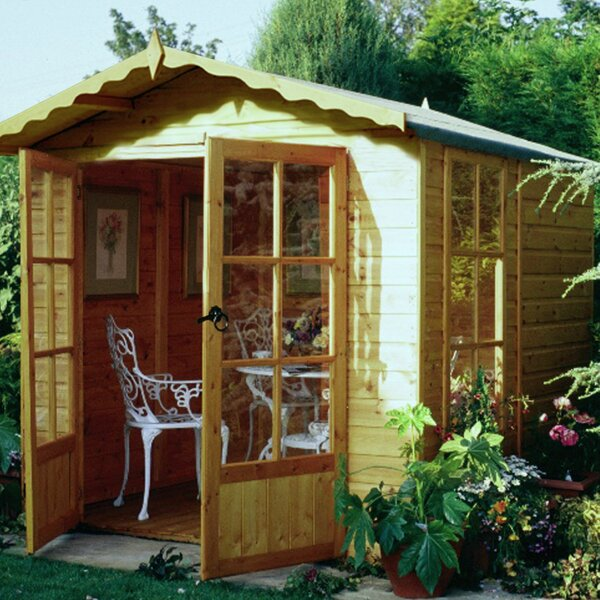 Sol 72 Outdoor Lolington 7 X 6 Ft Shiplap Summer House