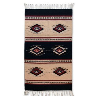 Look for Artisan Crafted Unique Geometric  'Sixth Sun' Hand Woven Mexican Naturally Dyed Wool Home Decor Area Rug By Novica
