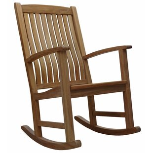 Ouellette Teak Rocking Chair