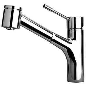 LaToscana Elba Single Handle Kitchen Faucet with 2 Function Sprayer, Stream and Spray