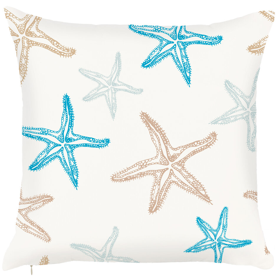 Highland Dunes Wymer Starfish Throw Pillow Reviews Wayfair