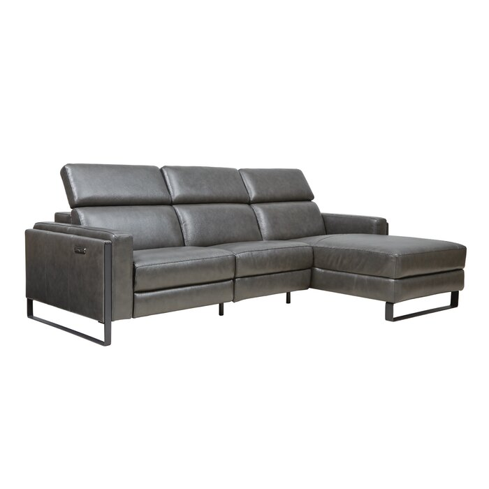 Starstruck Leather Reclining Sofa Chaise