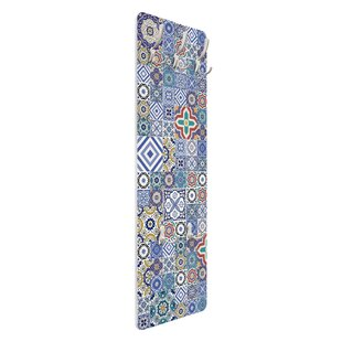 Ornate Portuguese Tiles Wall Mounted Coat Rack By Symple Stuff