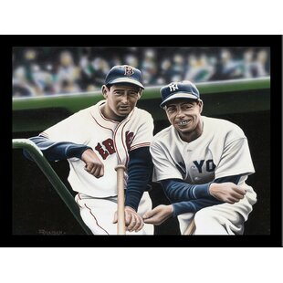'Ted Williams and Joe DiMaggio' Print Poster by Darryl Vlasak Framed Memorabilia By Buy Art For Less