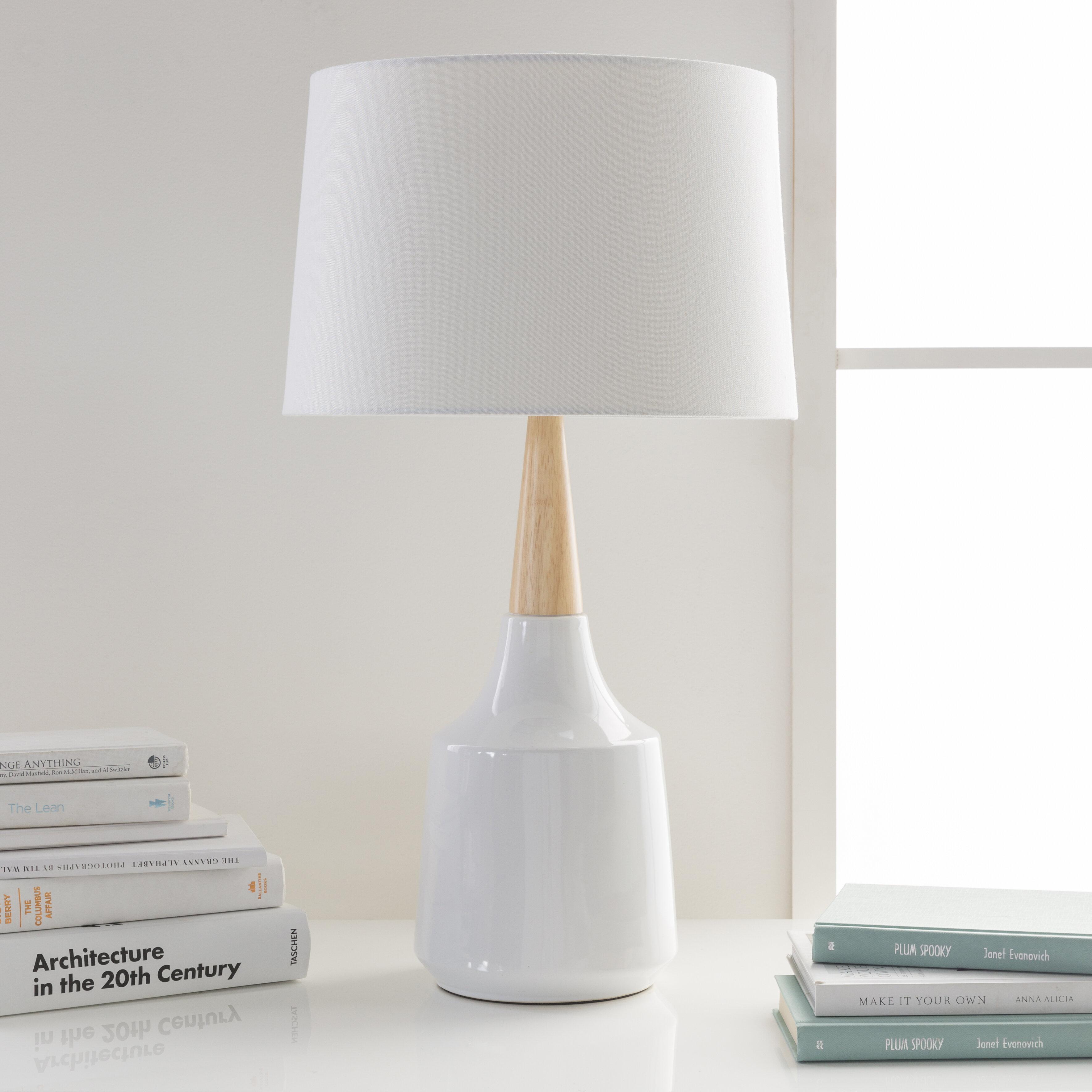 en productos table wood lamp lampara faro madera sobremesa
