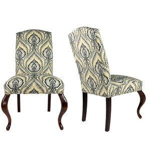 SL3003 Camelback Upholstered Parsons Chair (Set of 2) by Sole Designs