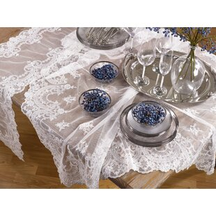 Onyenemeribe Beaded Floral Embroidery Tablecloth
