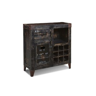 Sandie 9 Bottle Floor Wine Cabinet by 17 Stories