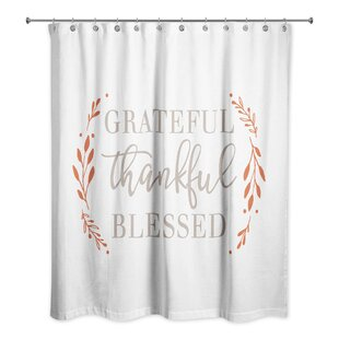 Valentin Grateful Thankful Blessed Single Shower Curtain
