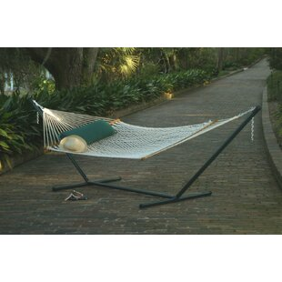 Grassingt Polyester Rope Double Tree Hammock with Stand