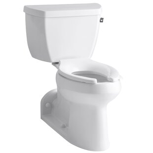 Kohler Barrington Comfort Height Two-Piece Elongated 1.0 GPF Toilet with Pressure Lite Flushing Technology and Right-Hand Trip Lever
