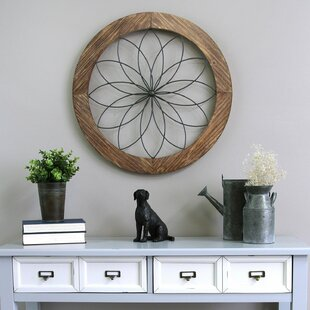 Round Medallion Wood And Metal Wall Décor
