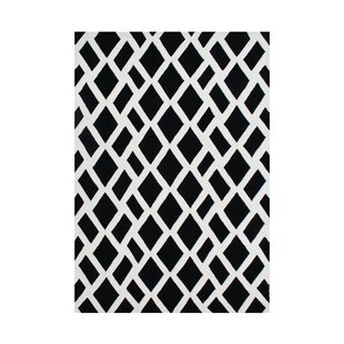 Online Reviews Venator Hand-Tufted Black/White Area Rug By The Conestoga Trading Co.