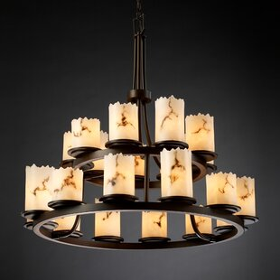 Brayden Studio Salina 21-Light Wagon Wheel Chandelier