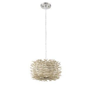 Ivy Bronx Bedwell 1-Light LED Drum Pendant