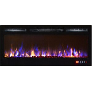 Bombay Crystal Wall Mount Electric Fireplace..