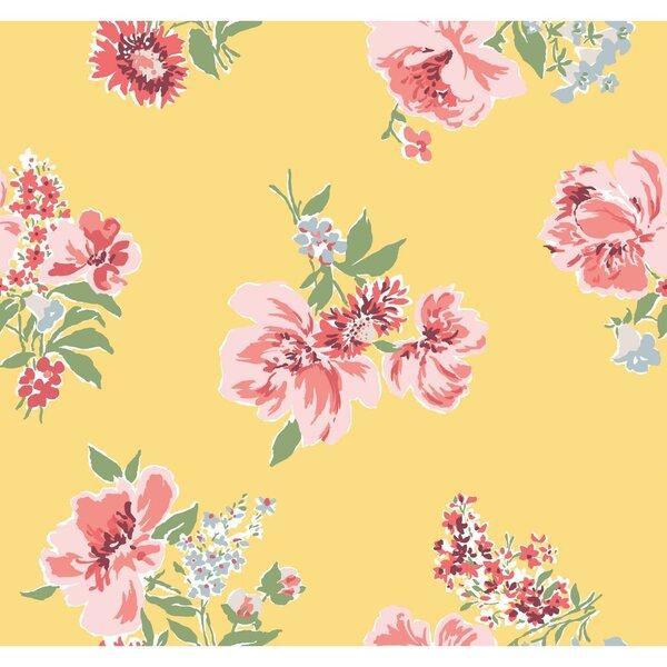 Madcap Cottage Isleboro Eve 33 L X 18 W Floral Wallpaper Roll