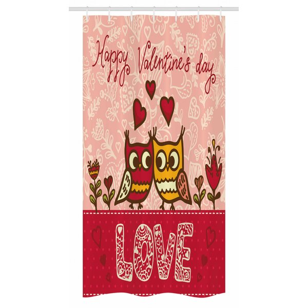 East Urban Home Valentines Day Stall Shower Curtain Single Hooks