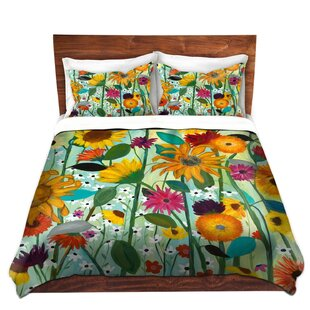 DiaNoche Designs Sunflower House Duvet Cover Set