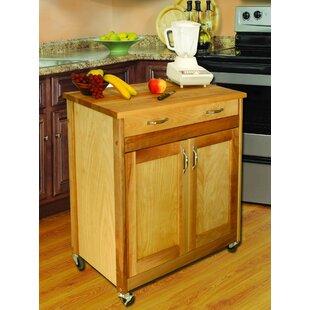 Designer Kitchen Cart with Wood Top Catskill Craftsmen, Inc.