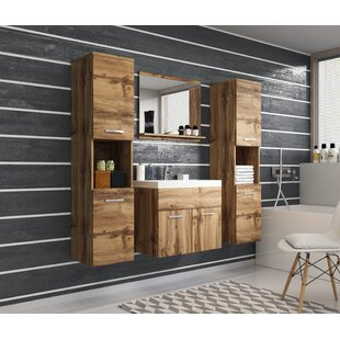 Stockwood XL Wall Mounted Bathroom Storage Furniture Set By Brayden Studio