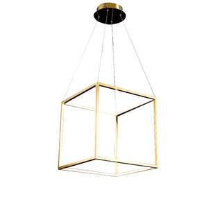 Galaviz LED Square/Rectangle Pendant by Everly Quinn