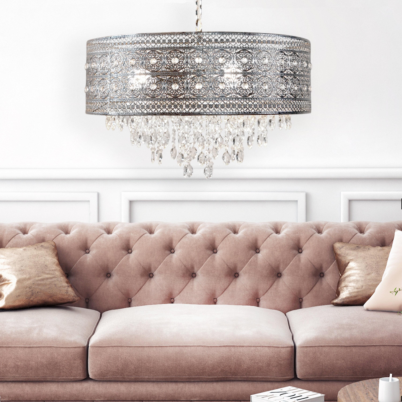 House Of Hampton Elkton 3 Light Shaded Drum Chandelier Reviews Wayfair