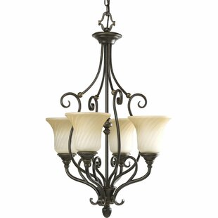 Fleur De Lis Living Terrie 4-Light Shaded Chandelier