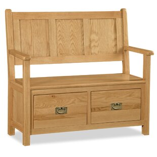 Wood Storage Hallway Bench By Gracie Oaks