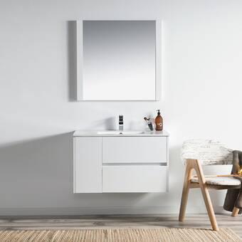 Orren Ellis Oquendo 30 Wall Mounted Single Bathroom Vanity Set Reviews Wayfair