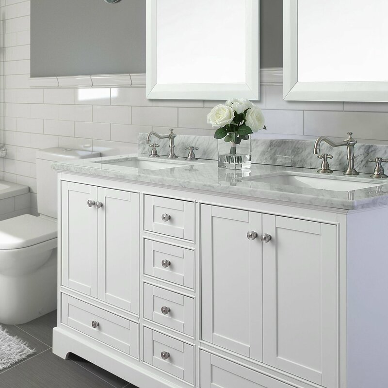 Birch Lane 72 Double Bathroom Vanity Set With Italian Carrara