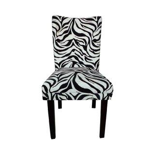 NOYA USA Tiger Striped Upholstered Dining Chair (Set of 2)
