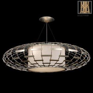 Allegretto 3-Light Geometric Chandelier by Fine Art Lamps